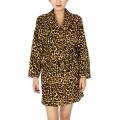 Wholesale T83 Ladies extra cozy plush robe Camel Leopard