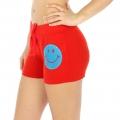 Wholesale M28 Cotton blend active shorts Smile Red