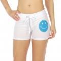 Wholesale M28 Cotton blend active shorts Smile White