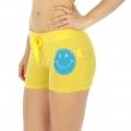 Wholesale M28 Cotton blend active shorts Smile Yellow