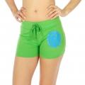 Wholesale M28 Cotton blend active shorts Smile Green