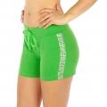 Wholesale M21 Cotton blend active shorts Buzz Green