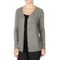Wholesale T11C Brushed V neck cardigan Grey