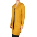 Wholesale P44C Open front midi cardigan with pocket Mustard