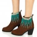 wholesale N46 Tribal bead tassel anklet TQC fashionunic