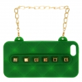 wholesale N38 Studded silicone cell phone case purse Green
