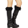 Wholesale R19 Ruffles & lace boot toppers J