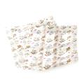"Wholesale WA00 13""X60"" Playful cats print oblong striped satin scarf WH"