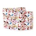 Wholesale WA00 13x60 Colorful birds print oblong striped satin scarf IV