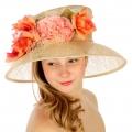 wholesale Flowers and net sinamay hat SAND fashionunic