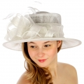wholesale Loops and feathers sinamay hat WH fashionunic