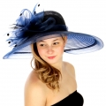 wholesale Polka dot and net dress hat NV fashionunic