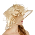 Wholesale TX10 Sinamay leaf & looops classic hat Champagne