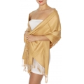 wholesale D45 Silky Solid Wedding Pashmina 50 Camel