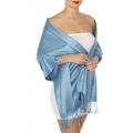 wholesale D63 Silky Solid Wedding Pashmina 64 Denim