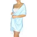 wholesale D01 Silky Light Wedding Pashmina 26 Baby Blue