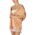 wholesale D36 Solid HD Wedding Pashmina 36 Light Salmon