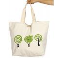 Wholesale V83 Tree print cotton tote bag Green-XL