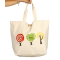 Wholesale V83 Tree print cotton tote bag Mint-XL