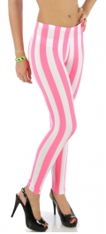 wholesale M34 Wide stripe ponte leggings Pink/White