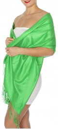 wholesale D45 Silky Solid Wedding Pashmina 47 Green