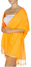 wholesale D12 Neon silky solid pashmina 802 Orange
