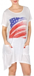 Wholesale I34E American T Shirt Dress w/ Pockets MT