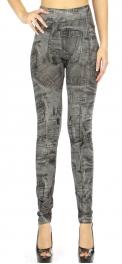 Wholesale WA00 Denim print leggings Black
