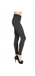 Wholesale S85D Solid thermal leggings Large BK