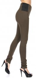 Wholesale R50B Solid skinny pant Olive