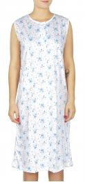 wholesale M37 Cotton blend floral nightgown Blue XL