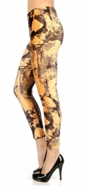 wholesale C02 Abstract ankle length fur lined leggings