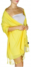 wholesale D12 Neon silky solid pashmina 801 Yellow