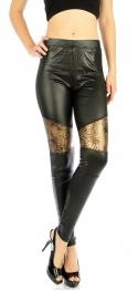 wholesale B09 Metallic leopard panel liquid leggings