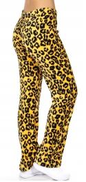 Wholesale K74 Cheetah plush pants Tan fashionnic