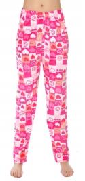 Wholesale U08 Pajama pants Square and hearts Pink
