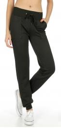 Wholesale K00 Solid quilted pocket jogger pants BK