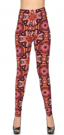 Wholesale S20B NEW MIX Soft brushed print leggings Vivid Abstract