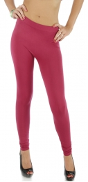 wholesale F17 Solid polyamid leggings Burgundy