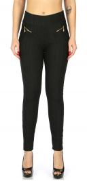 Wholesale C14B Fleece jeggings with zip Black
