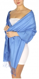 wholesale D01 Silky Light Wedding Pashmina 20 Sky Blue