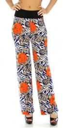 Wholesale C37 Wide waist floral pants BL fashionunic