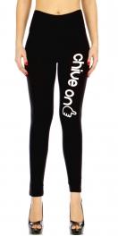 """Wholesale C01 Black cotton lycra leggings """"CHIVE ON"""""""