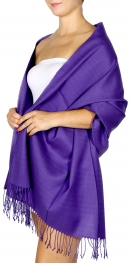 Wholesale S76B Solid pashmina Purple