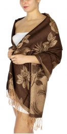 wholesale D21 Pastel Rose Shawl 01 Dark Brown