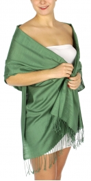 wholesale D01 Silky Light Wedding Pashmina 13 Green