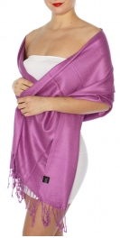 wholesale D45 Silky Solid Wedding Pashmina 45 C berry