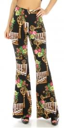 wholesale A03 Floral/key wide leg pants fashionunic