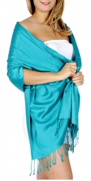 wholesale D40 Solid HD wedding pashmina 38 Dark Turquoise