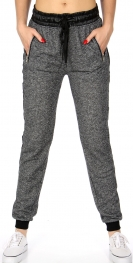 Wholesale A22A Ladies french terry jogger Black